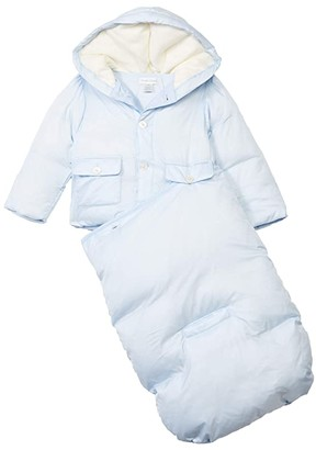 Polo Ralph Lauren Kids Tafeta Bunting (Infant) (Beryl Blue) Boy's Jumpsuit & Rompers One Piece