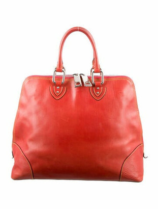 Marc Jacobs Smooth Leather Handle Bag Orange