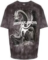 Andrea Crews logo dragon print T-shirt