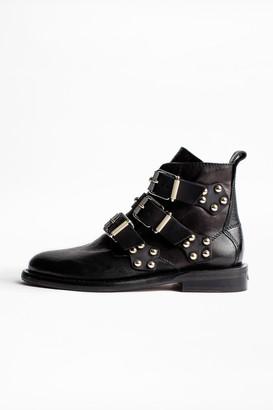 Zadig & Voltaire Laureen Buckle Studs Ankle Boots