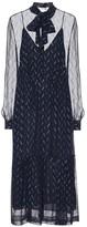 Saint Laurent Silk-lame midi dress