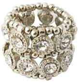 Zirconite Stretch Ring with Crystals - Silver