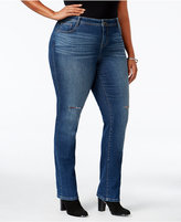 Style&Co. Style & Co Plus Size Ripped Lorimer Wash Slim-Leg Jeans, Only at Macy's