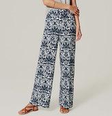 LOFT Palace Floral Wide Leg Pants in Marisa Fit
