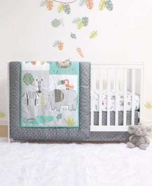 Belle Safari 4-Piece Crib Bedding Set Bedding
