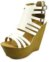 Dollhouse Global Open Toe Synthetic Wedge Heel.