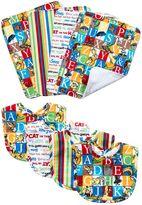 Trend Lab Dr. Seuss Alphabet Seuss Bouquet Bib & Burp Cloth Set