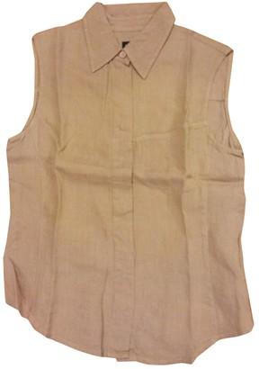 Armani Jeans Beige Linen Top for Women