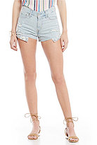 Levi's High Rise Distressed Cutoff Denim Shorts
