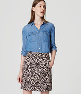 LOFT Petite Spotted Shift Skirt
