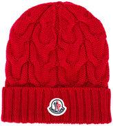 Moncler cable-knit beanie hat