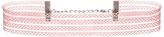 Quiz Pink Mesh Stripe Choker