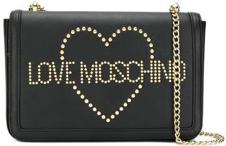 Love Moschino studded detail shoulder bag