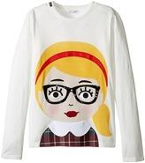 Dolce & Gabbana Back to School Bimba Bionda Long Sleeve T-Shirt (Big Kids)