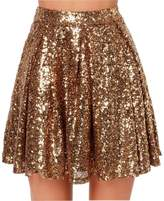 Lisong Women A-line Mini Sequined Skirt Prom Party Dress US 16