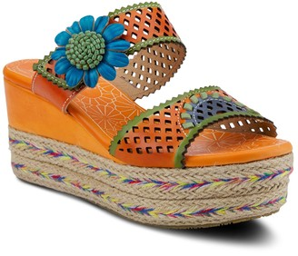 Spring Step L`Artiste by Leather Cutout Sandals- Virgie