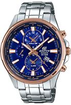 Casio Edifice World Time Chronograph Date Bracelet Strap Watch