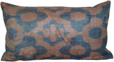 Orientalist Home Berk 16x24 Silk Pillow, Blue