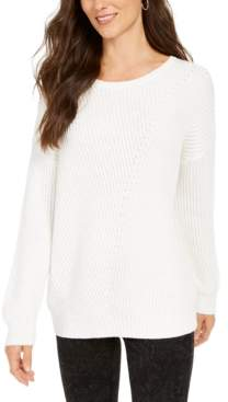 Style&Co. Style & Co Ribbed Drop-Shoulder Sweater, Created For Macy's