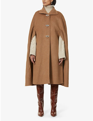 Sandro Virgil wool-blend cape