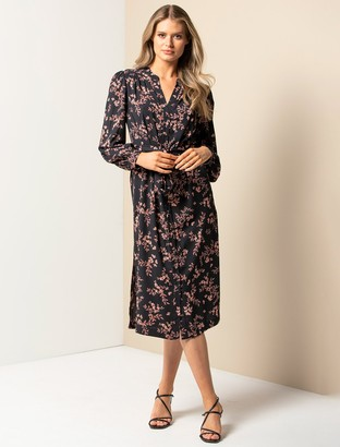 Forever New Adele Midi Shirt Dress - Blush Shadow Floral - 10