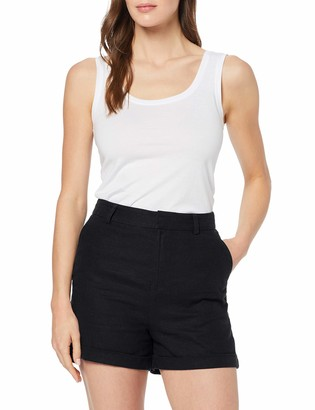 Meraki Amazon Brand Women's Linen Shorts