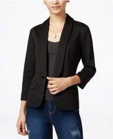 Say What Juniors' Shawl-Collar Knit Blazer