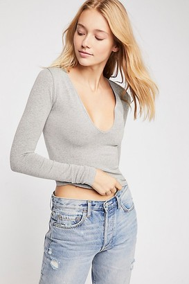 Free People Seamless Solid Deep V by Intimately at