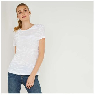 Joe Fresh Women's Texture Tee, White (Size S)