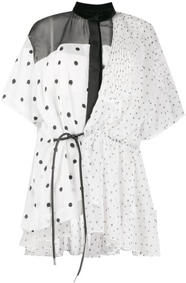 Sacai Polka Dot Asymmetric Blouse