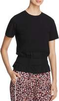 DKNY Mixed Media Crewneck Top