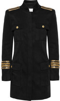 Pierre Balmain Chain-embellished Stretch-twill Jacket - Black