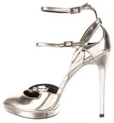 Brian Atwood Metallic Leather Pumps