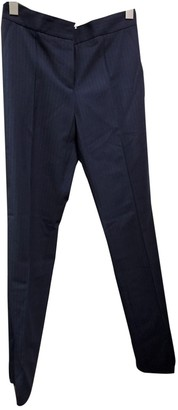 Maje Blue Cloth Trousers for Women