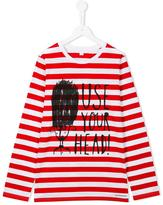 Burberry use your head printed top - kids - Cotton - 14 yrs