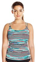 Christina Women's Plus-Size Montego Bay D-Cup Long Tankini