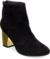 Steve Madden Women's Cynthia Zipper Gold Block-Heel Booties