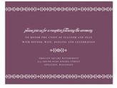 Minted Ornamental Formal Reception Cards