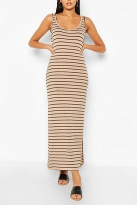 boohoo Striped Maxi Dress