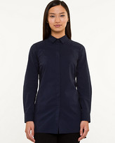 Le Château Stretch Poplin Button-Front Tunic