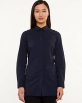 Le Château Stretch Poplin Button-Front Tunic