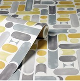 Arthouse Connection Geo Ochre & Grey Wallpaper