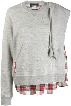 DSQUARED2 Check Detail Sweatshirt