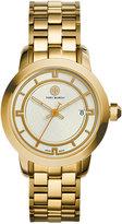 Tory Burch Women's Swiss Classic Gold-Tone Bracelet Watch 37mm TRB1003