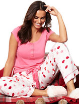 New York & Co. 2-Piece Pajama Set - Lipstick Print