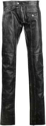 DSQUARED2 Leather Biker Trousers