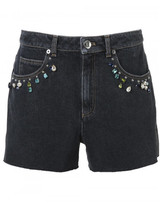 Sonia Rykiel embellished denim shorts