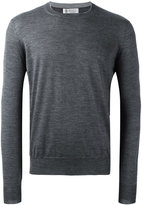 Brunello Cucinelli crew neck pullover - men - Suede/Cashmere/Virgin Wool - 52