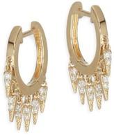 Sydney Evan 14K Yellow Gold & Diamond Small Fringe Hoops