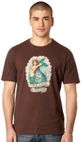 Protest Brown Mermaid Print T-shirt